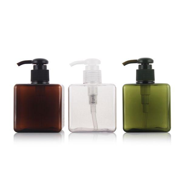 ¡Caliente !! (10pcs / lot) 250ML Muji con la botella de la bomba de la loción Jabón Dispenser Cream Bottle con la bomba de espray Botellas vacías plásticas