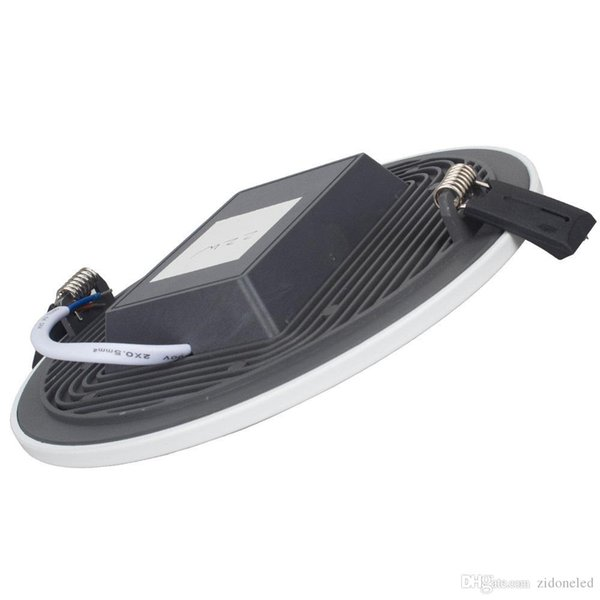 Integrierte Led Einbauleuchten Downlights Runde / Quadrat LED Deckeneinbauleuchte 5W 8W 16W 24W 32W Schwarzer Heizkörper SMD 4014