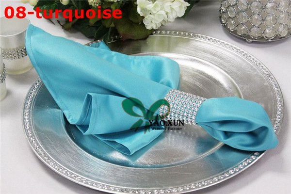 Cheap Price Turquoise Color 100pcs Lot Satin Table Napkin For Wedding Decoration \ Cheap Price Table Cloth Napkins