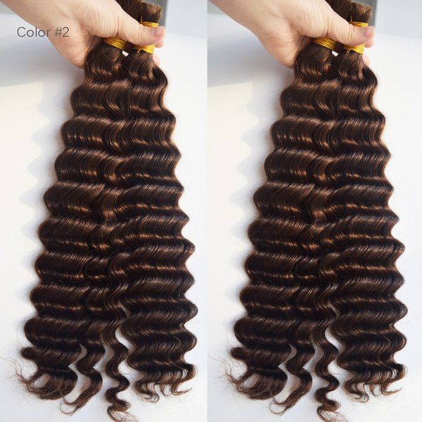 top popular Malaysian Deep Wave Hair Bulk Virgin Human Hair Deep Curly 8A Cheap Crochet Hair Extensions 2019