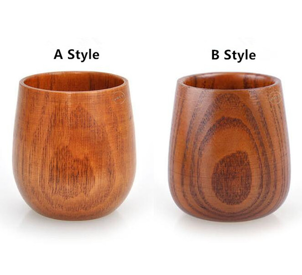 top popular 2017 Top-Grade 5oz Wine Glasses Natural Solid Wood Wooden Tea Cup Wine Mug 150ml wooden coffe mugs by dhl free shipping 2021