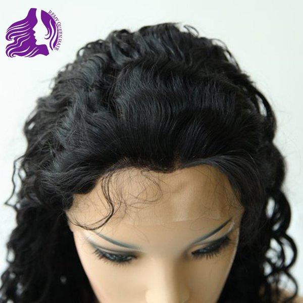 Glueless Full Lace Wigs Natural Hairline with Baby Hair Around 8a Good Quality Natural Color Deep Wave 1# 1B# 2# 4# Hand Tied