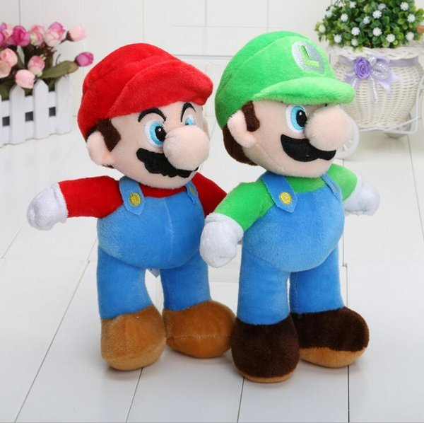 2 colors Super Mario Bros. Mario & Luigi Plush Doll Stuffed Animal Toy Super Mario Mario Mushroom Plush Toys Doll 25 cm