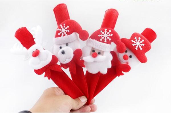 Cartoon Light Up Toys Colorful Luminous Hand Ring Cartoon Flashing Strap LED Wristband Bracelets Led Toys Novelty Christmas Gift