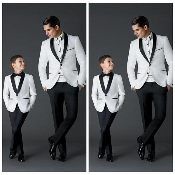 Nach Maß 2018 neue Mode Bräutigam Smoking Herren Hochzeitskleid Prom Anzüge Vater und Junge Smoking (Jacke + Pants + Bow) formelle Kleidung Smoking