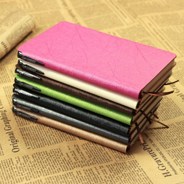 PU Leather Imitation Notebooks Office Supplies Diary Notepad With A Pen Multi Color Optional Hot Sell 5 4cr F R