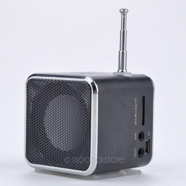 Toptan Satış - TD-V26 Taşınabilir Mikro SD TF USB Mini Hoparlör Müzik Çalar Taşınabilir FM Radyo Stereo mp3 telefon Dizüstü MP3 MP4 Çalar Hoparlör