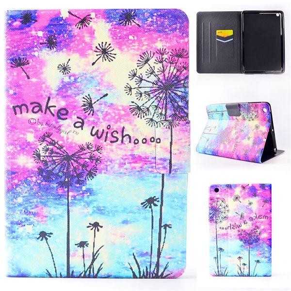 Funda de cuero para tableta Mini iPad 123 iPad Mini 4 Funda Filp Soporte de pintura Viento carillón Amor globo Dormancy Sleep Wake Función Desgin