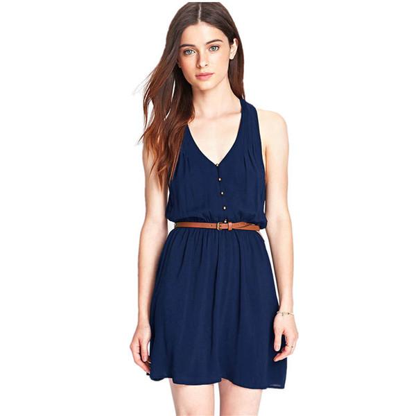 5e17f3ddfbd office dresses styles chiffon Promo Codes - Wholesale- 2017 Summer Style  Women Office Casual Dress