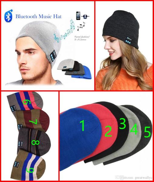 2017 Hot Cuffia senza fili Bluetooth Cuffia a maglia Beanie Hat Vivavoce Stereo Auricolare Sport invernale all'aperto Cappello musicale magico
