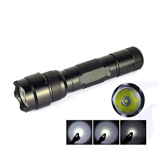 Hot Sale 1101 Type Edc Linternas flashLight Cree Led Tactical Flashlight Lanterna Torch W/ 18650(built-in) rechargeable battery