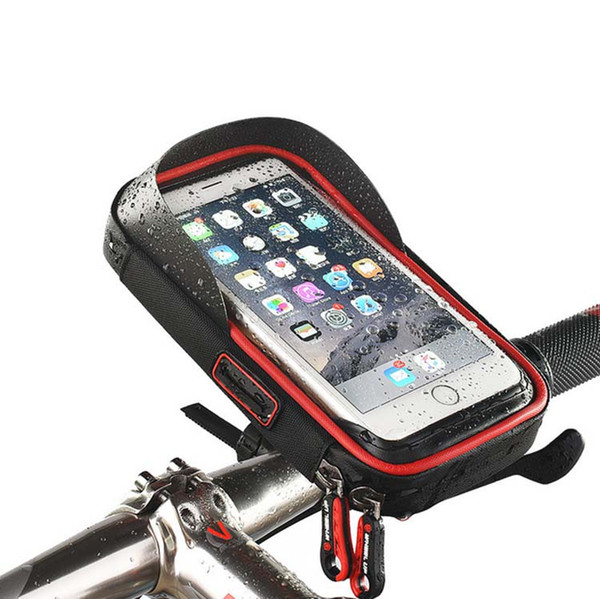 new arrivals 9d666 914e6 Universal Waterproof Bike Phone Bag Case Pouch Holster Touch Screen For  Iphone 8 / 8 Plus / 7 / 7 Plus Clear Cell Phone Cases Protective Cell Phone  ...