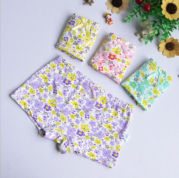 best selling Fashion Baby Girl's Panties Briefs Soft Children's Shorts Underwear Kids Sweety Floral Cotton Underpants 12Pcs lot
