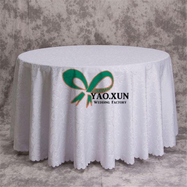 New Design 100% Poly Jacquard Damask Table Cloth \ Cheap Wedding Tablecloth