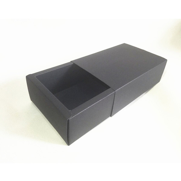 2018 Cinta Aislante 20pcs/lot 6.5/9/10.4/16/18cm Black Paper Storage Box for Essential Oil Perfume Sample Bottle Lipstick Diy Craft Tubes