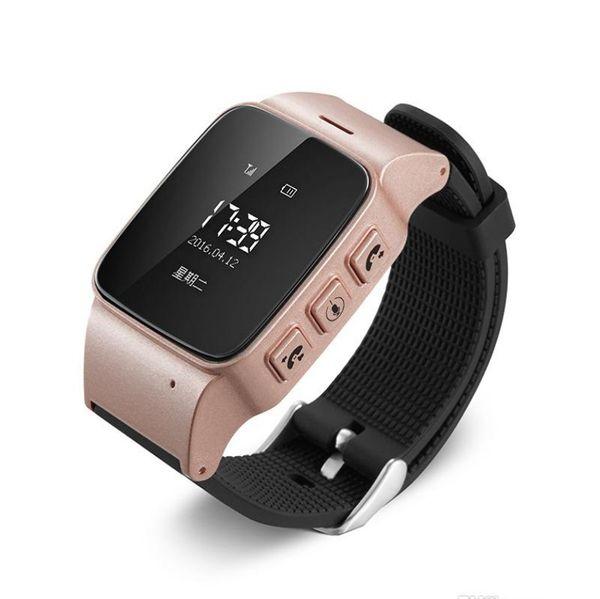 Pour les hommes âgés Femmes iOS téléphones Android Smart Watch D99 Personnes âgées Smart Watch Téléphone SOS Anti-perdus Gps + Lbs + Wifi Suivi Smart Watch