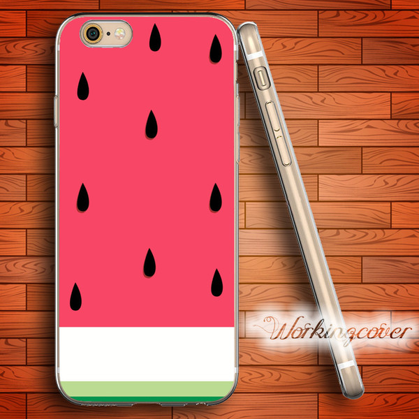 Coque Cartoon Watermelon Soft Clear TPU Case for iPhone 7 6 6S Plus 5S SE 5 5C 4S 4 Case Silicone Cover.