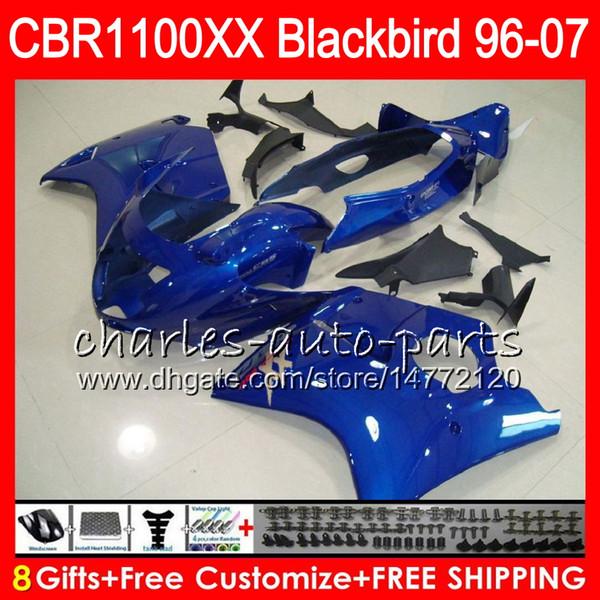 Body For HONDA Blackbird CBR1100 XX blue black CBR1100XX 02 03 04 05 06 07 81NO57 CBR 1100 XX 1100XX 2002 2003 2004 2005 2006 2007 Fairing