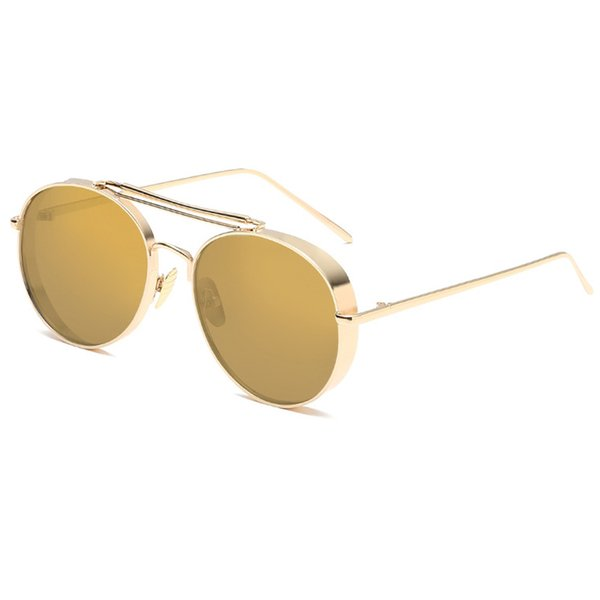 C2 Gold Frame Yellow Gold Mirror