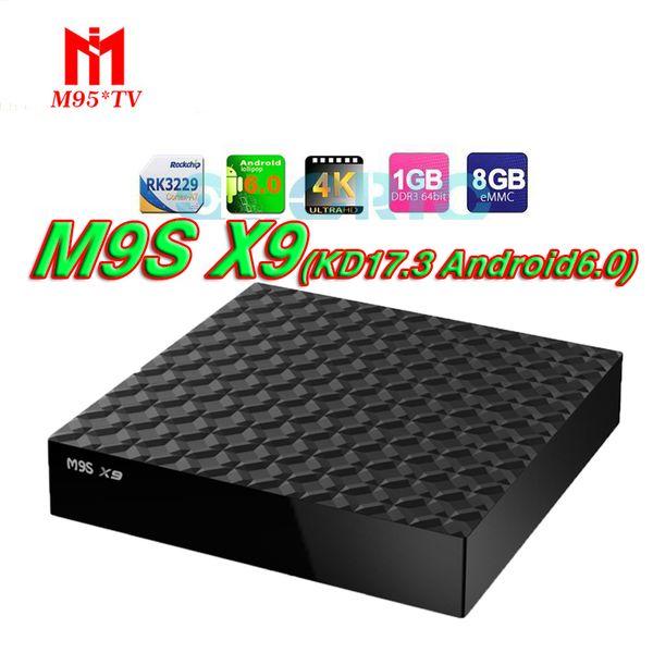 M9S X9 KD17 3 Fully Loaded Smart Boxes Rockchip Rk3229 Quad Core Andorid  6 0 1G+8G Ott Tv Boxes Add Ons Iptv Box VS V88 A95X Best Smart Tv Box Box