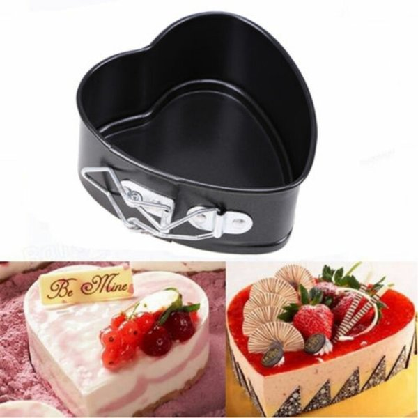 Wholesale- Non-stick Springform Chocolate Cake Bake Mould with Removable Bottom Bakeware Heart Shape Kitchen Accessories Baking Tools