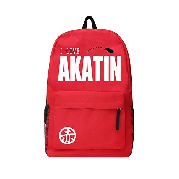 Children School Bag Oxford Bag Akatin Knapsack Niconico Anime Backpack Teenagers Laptop Backpack for Camping Hiking Traveling Riding Bag