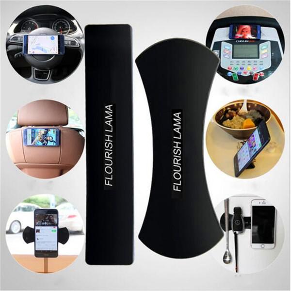 Fixate Gel Pad Wall Sticker FLOURISH LAMA Phone Holder Anti Slip Mat Non Slip Car Mobile Phone Bracket Washable Repeatedly Holders