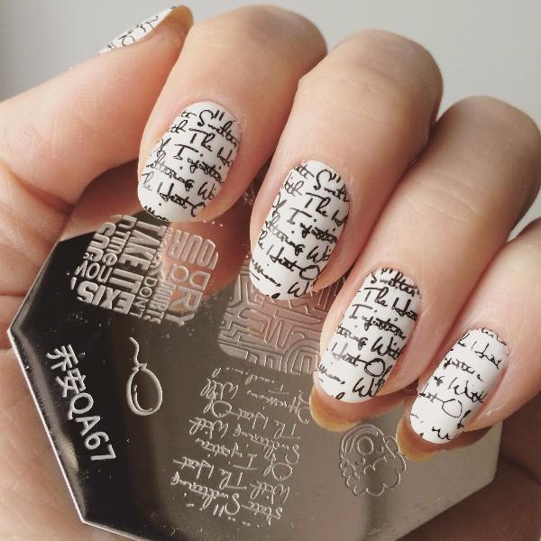Wholesale Lovely Lip Cup Letter Pattern Nail Art Stamp Stamping