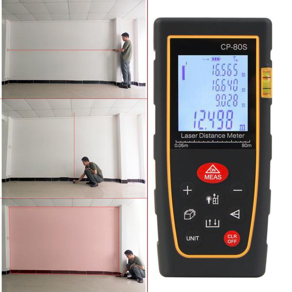 Promoción 80 M Handheld Digital Laser Distance Meter Range Finder Measure Diastimeter Promotion