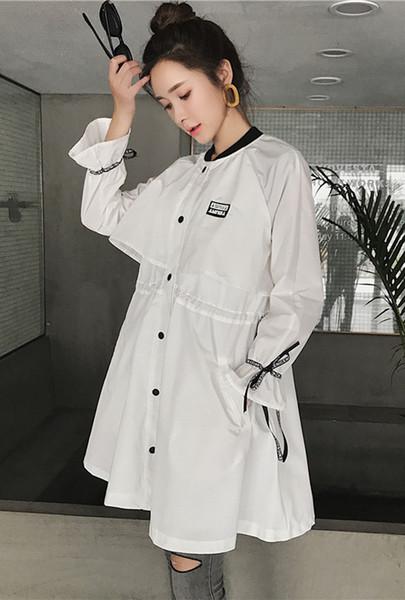Cappotto per cardigan a bottone lungo MD di alta qualità da donna Giubbotto di maternità maternità Taglia: L XL XXL DXW136