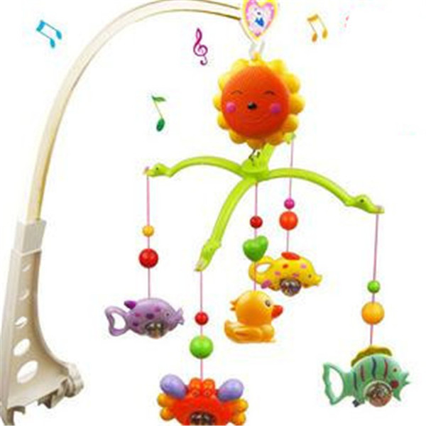 Wholesale- 1pc/set Baby Education Baby Toys for 0-12 Months Bed Hanging Toy Musical Crib Toys Baby Bell Ring Rattle Mobile 37*6*27.5cm