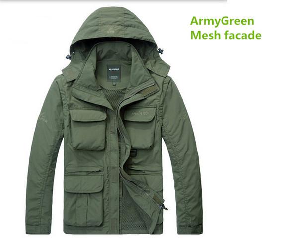 Gros- coupe-vent pour hommes Veste imperméable manteau décontracté pour le printemps de l'automne AFS