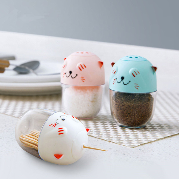 Wholesale- 1pc Plastic Toothpick Box Creative Home Living Room Toothpick Box Cartoon Toothpick Holder