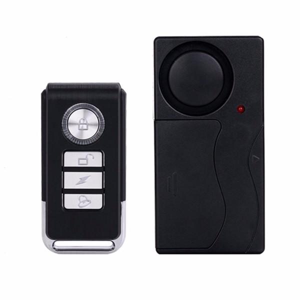 Práctico Control Remoto Inalámbrico Vibración Alarma Sensor Puerta Ventana Coche Casa Casa Detector de Sensor de Seguridad
