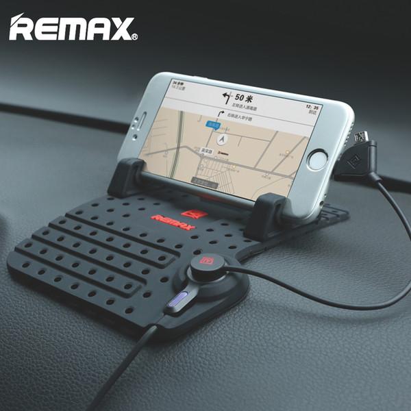 Supporto per telefono cellulare Remax per iPhone 8 7 Samsung s6 s7 s8 plus note8 Supporto regolabile per telefono GPS Supporto per supporto da auto + Cavo USB