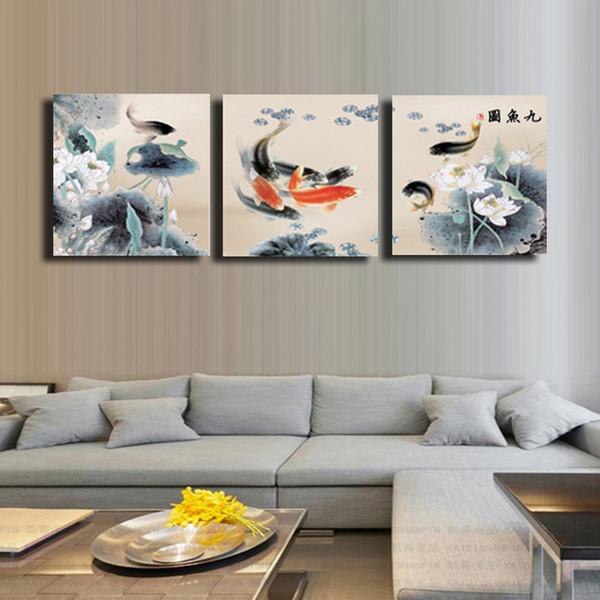 3 Pcs / Set poisson Toile Huile Murale Art HD Peinture Décorative pour La Maison Pas Cher Art Photo Peinture sur Toile Prints # 18