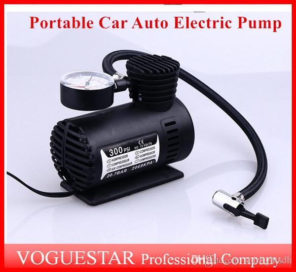 top popular Auto Electric Pump Air Compressor Mini 12V Car Auto Portable Pump Tire Inflator pumps Tool 300PSI ATP019 2021