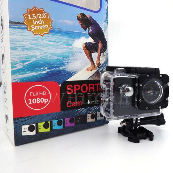top popular SJ4000 style A7 2 Inch LCD Screen 1080P Helmet Sports DV Video Car Cam DV Action Waterproof Underwater 30M Camera Camcorder 2020