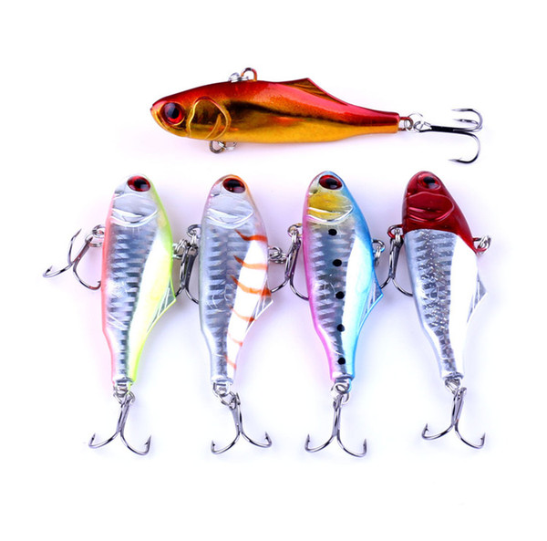 New 3D Eyes VIB fishing lure 7cm 24g 5colors Colorful Hard Body Deep Diving Artificial Bait