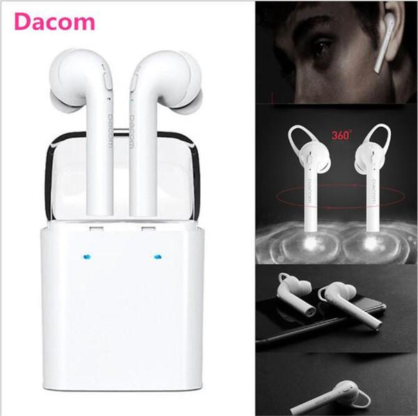 Dacom 7s tws mini auriculares de auriculares inalámbricos True Bluetooth deportes para iPhone 7 7 más auriculares dobles gemelos samsung smartphones