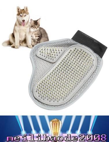 2017 новый собака волос и меха Remover Mitt Cat ванна мыть груминг перчатки щетка для чистки собак массаж гребень для длинных коротких домашних животных MYY