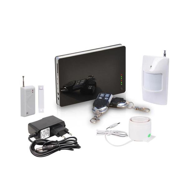 Nuevas aplicaciones Andorid de iOS admitidas, sistema de alarma de seguridad en el hogar inteligente inalámbrico con conexión de cable GSM, control remoto mediante SMS