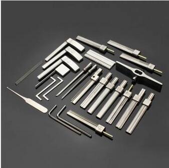 G10 HUK Kit di utensili in alluminio multifunzionale Strumenti per fabbro Strumenti per grimaldello Set apriporta