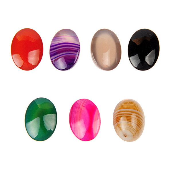 15x20mm Beauty Agate Cabochon Oval Flatback Multi Color Banded Agate Stone Cabochon Perfect Smooth Natural Genuine Gem Cabochon (No Hole)
