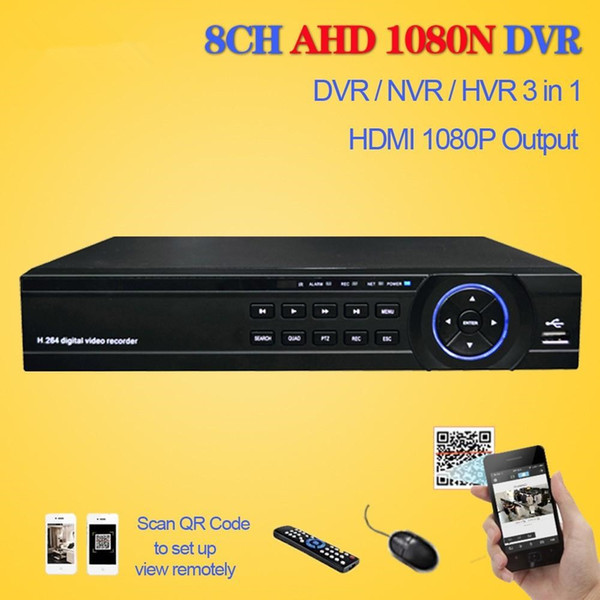 LLLOFAM Home 8Channel 1080N 720P H.264 Video Recorder HDMI 1080P WIFI Network surveillance CCTV security DVR 8CH with 3 x USB port