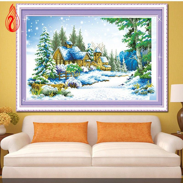 Promotion DIY Diamond Mosaic 5D Diamonds Embroidery Winter Garden of Hope Home Decoration Square Diamond Painting Cross Stitch Kit