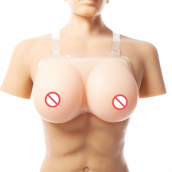 FF Cup Conjoined Beige Gefälschte Silikon Brustform Falsche vagina faux seins Gefälschte boobs Titten geestante Crossdresser vorgeben Brust Drag Quee