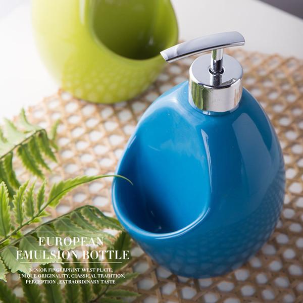 10pcs/lot 500ml Fashion bathroom sanitary ware ceramic hand sanitizer sub-bottling shower gel bottle plastic pump head lotion soap dispenser