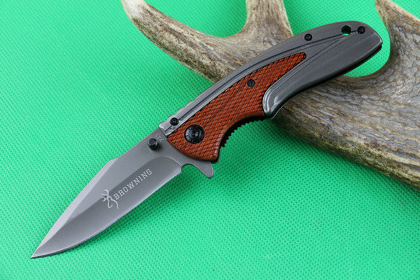 Browning X43 Titanium Pocket Folding Knife 440C 57HRC Tactical Hunting Hiking Survival Combat Rescue Knife Military Utility EDC with Clip