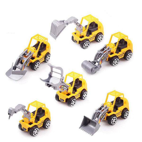 Engineering vehicle model of 6 children's toy car stalls selling toys wholesale mixed variety